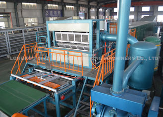 Egg Tray Pulp Molding Machine , Egg Tray Equipment With Rotary Type